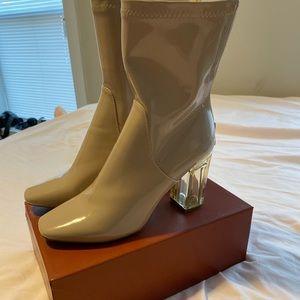 Tan Perspex boots